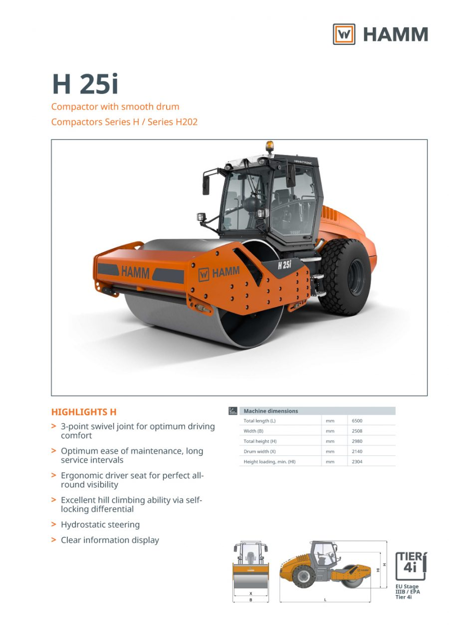 Catálogo Hamm H25i