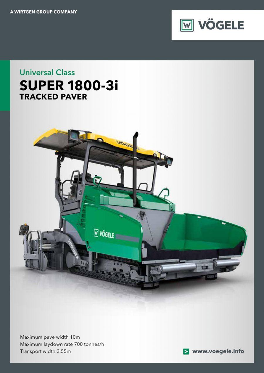 Catálogo Vögele Super 1800-3i