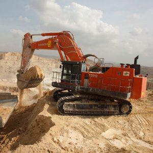 Escavadoras para minas e pedreiras