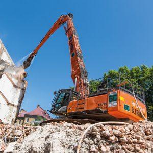 Escavadoras de demolição